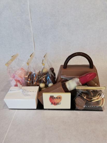 Afbeeldingen van Cadeaupakket handtas en lipstick 35.10€
