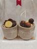 Afbeeldingen van 2 stenen potjes 'Enjoy Life' gevuld - 11.35€